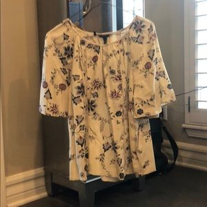 A colorful silky blouse
